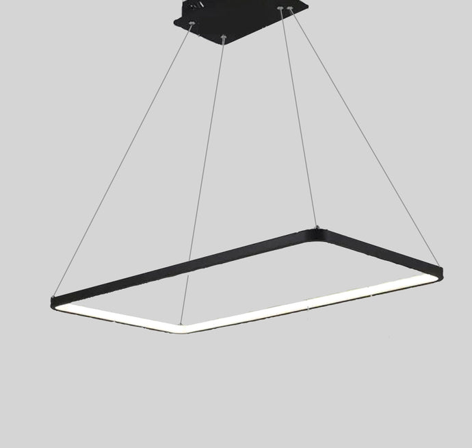 28w LED Rectangle Pendant Light - Oia Blue