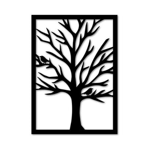 Metal Wall Art Tree Modern Hanging Decor - Oia Blue