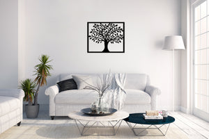 Metal Wall Art Smart Tree - Oia Blue