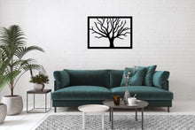 Load image into Gallery viewer, Metal Wall Art Tree Decoration - Oia Blue