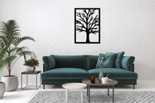 Load image into Gallery viewer, Metal Wall Art Tree Modern Hanging Decor - Oia Blue