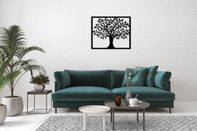 Load image into Gallery viewer, Metal Wall Art Smart Tree - Oia Blue