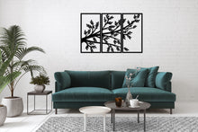Load image into Gallery viewer, Metal Wall Art 3 Pieces Branch Tree Home Decor - Oia Blue