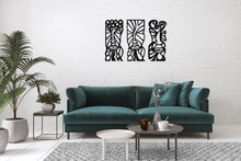 Load image into Gallery viewer, Geometric Mask Metal Wall Art Decor African Decoration Design