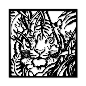 Metal wall art tiger - Oia Blue