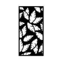Load image into Gallery viewer, Metal wall art decoration poster leaf design - Oia Blue