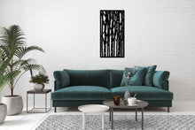 Load image into Gallery viewer, Metal Wall Art Bamboo Design - Oia Blue