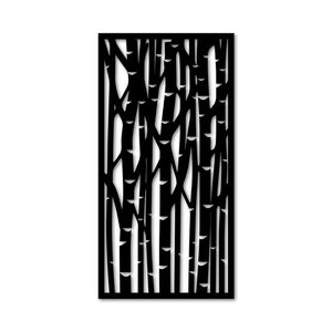 Metal Wall Art Bamboo Design - Oia Blue