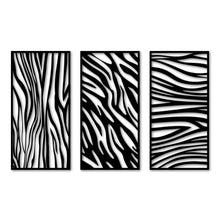 Load image into Gallery viewer, Meta Wall Art Zebra Panel 3 Pieces Poster - Oia Blue