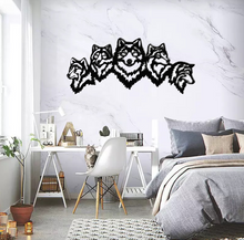 Load image into Gallery viewer, Metal Wall Art Wolves - Oia Blue