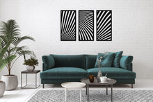 Load image into Gallery viewer, Metal Wall Art Panel Wave - Oia Blue