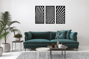 Metal Wall Art Panel Wave
