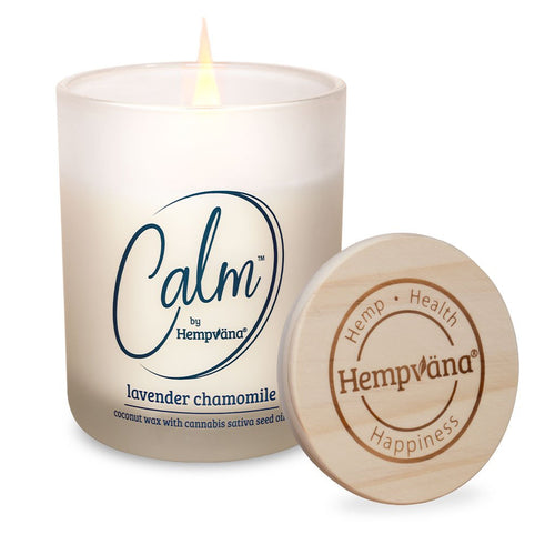 Product Image - Calm Candle in Lavender Chamomile Lit