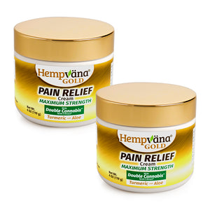 2pk Gold Pain Relief Cream + Turmeric & Aloe