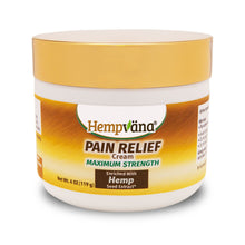 Load image into Gallery viewer, Jar of Hempvana Gold Pain Relief Cream isolated on white background