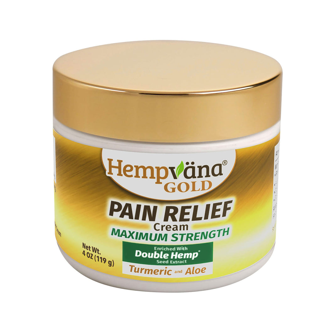 Hemp Pain Relief Cream - Hempvana Gold with Turmeric & Aloe