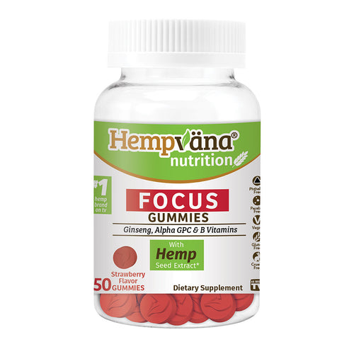 Hempvana Focus Gummies isolated on white background