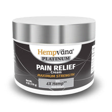 Load image into Gallery viewer, Jar of Hempvana Platinum Pain Relief Cream isolated on white background