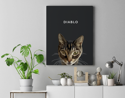 Custom Pet Portrait (Canvas)