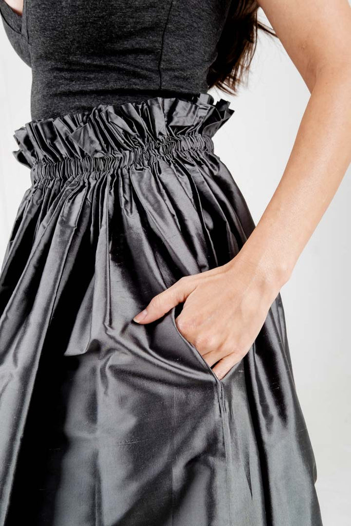 Seta Skirt Charcoal Dreams