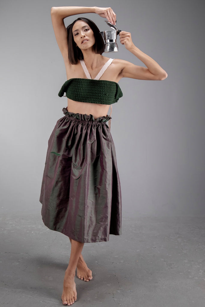 Seta Skirt Lotus Green