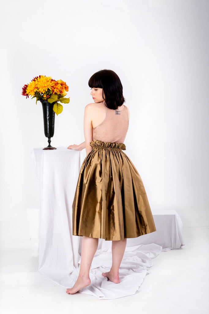 Seta Skirt Antique Gold