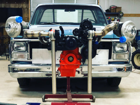 1967-1987 CHEVROLET C10 LS TWIN TURBO HOT SIDE KIT