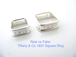 Spot a Fake Tiffany Ring: Authenticate a Tiffany & Co 1837 Square Ring