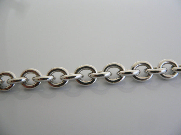 Tiffany & Co Silver 1837 Circle Toggle Clasp Charm Bracelet Bangle Gift Love