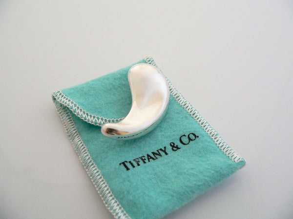 Tiffany & Co Peretti Silver Large Teardrop Tear Drop Pin Brooch Rare Gift Pouch