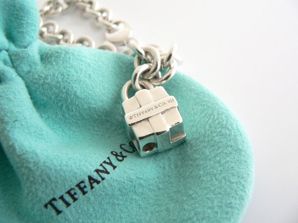 Tiffany & Co Silver Gift Box Bracelet Bow Ribbon Charm Bangle Gift Pouch Love
