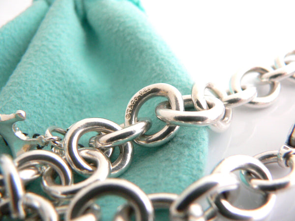 Tiffany & Co Silver Crown Bracelet Charm Princess 8 Inch Longer Gift Pouch Love