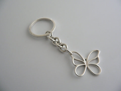 Tiffany & Co Silver Butterfly Key Ring Keychain Gift Rare Nature Lover