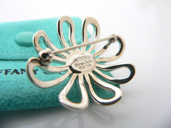 Tiffany & Co Silver 18K Gold Large Picasso Daisy Flower Brooch Pin Nature Lover