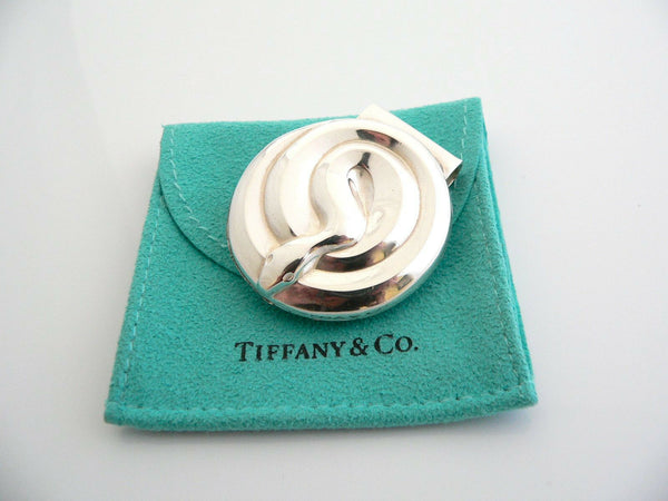Tiffany & Co Silver Snake Nature Money Clip Holder Rare Vintage Gift Pouch