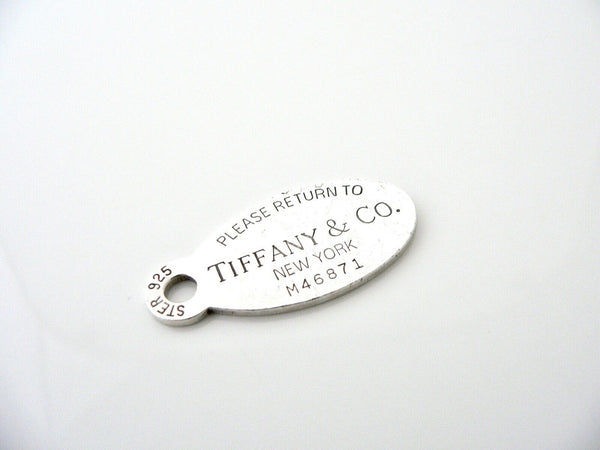 Tiffany & Co Return to Oval Dog Tag Charm 4 Necklace Bracelet Gift Love Silver