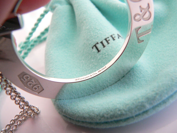 Tiffany & Co Silver Large 1837 Circle Round Necklace Pendant Charm Gift Love