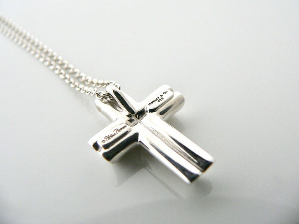 Tiffany & Co Large Tenderness Cross Necklace Pendant Charm Gift Silver 18 Inch