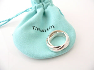 Tiffany & Co Silver Picasso Califfe Triple Rolli Ring Band Sz 7 Gift Pouch Love