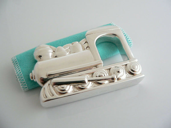 Tiffany & Co Silver Train Rattle Rare Heirloom Baby Gift Pouch