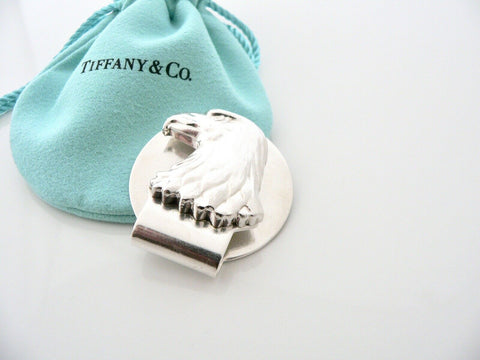 Tiffany & Co Eagle Money Clip Holder Gift Pouch Silver Man