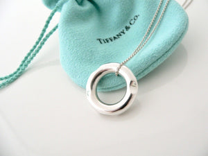 Tiffany & Co Gehry Tube Necklace Pendant Charm Chain Silver Gift Pouch Love Art