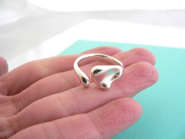 Tiffany & Co Silver Peretti Full Heart Ring Band Sz 6.5 Gift Love Statement