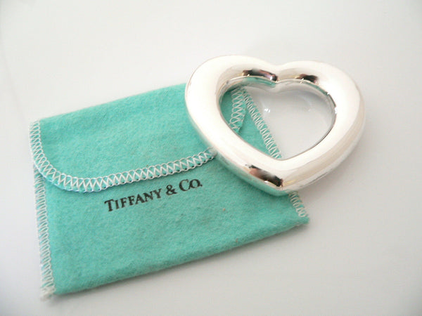Tiffany & Co Silver Heart Rattle Teether Baby Heirloom No Dents Excellent Gift