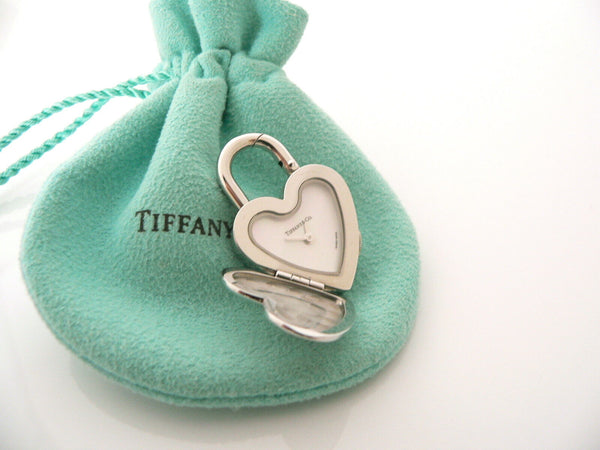 Tiffany & Co Notes Heart Love Watch Clock Padlock Charm 4 Necklace Bracelet Gift