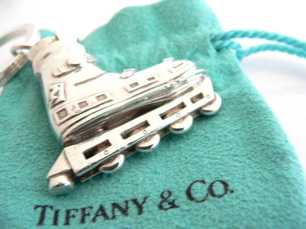 Tiffany & Co Silver Rollerblade Boot Key Ring Keyring Key Chain Gift Pouch