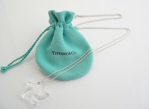 Tiffany & Co Peretti Silver Large Rock Crystal Star Necklace Pendant Charm Gift