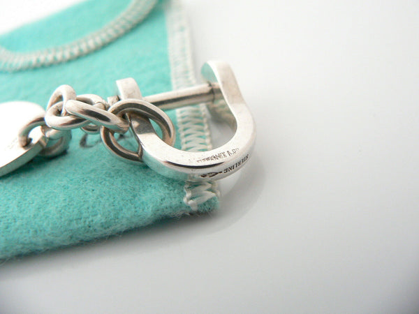 Tiffany & Co Silver Shackle Oval Key Ring Keychain Key Chain Gift Pouch Love
