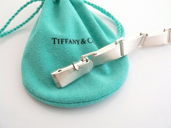 Tiffany & Co Silver Gehry Torque Link Bracelet Bangle 8.5 Inch Chain Gift Pouch