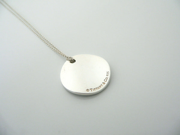 Tiffany Co Silver Notes Circle Round Necklace Pendant Charm Chain Gift Love